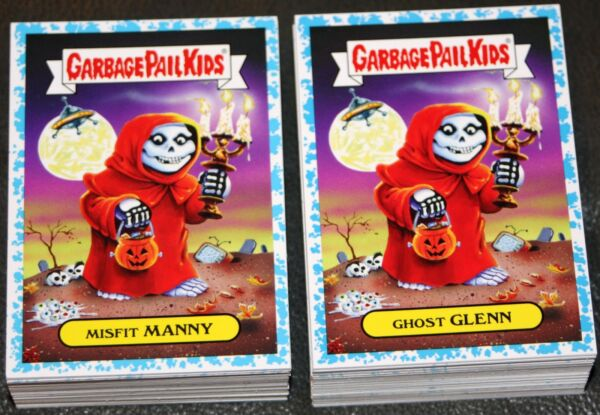 2017 GARBAGE PAIL KIDS BATTLE OF THE BANDS COMPLETE BLUE SPIT SET 180 CARDS GPK