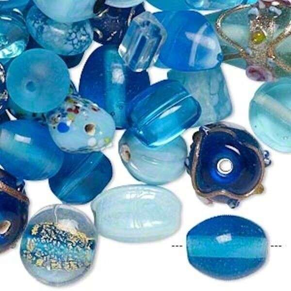 100 Grams Lampwork Fancy Glass Bead Mixes Many Colors to Choose $9.99