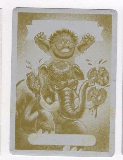 2017 Garbage Pail Kids Battle of the Bands printing plate Masto Don