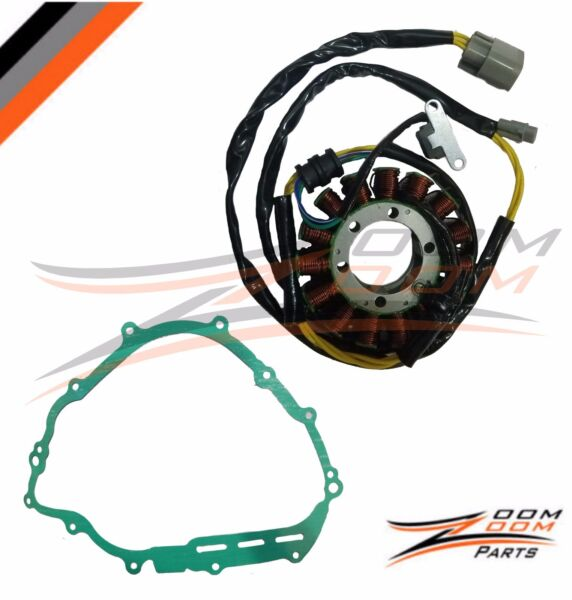 STATOR COIL AND GASKET FITS YAMAHA GRIZZLY 700 YFM700 2007 2015 07 15 $39.95
