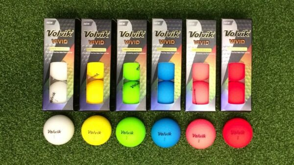 VOLVIK VIVID GOLF BALLS (1 Dozen 12 balls ) --- CHOOSE COLOR