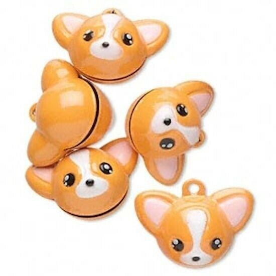 6 Adorable Chihuahua Dog 25x19mm Bell Charms $9.99