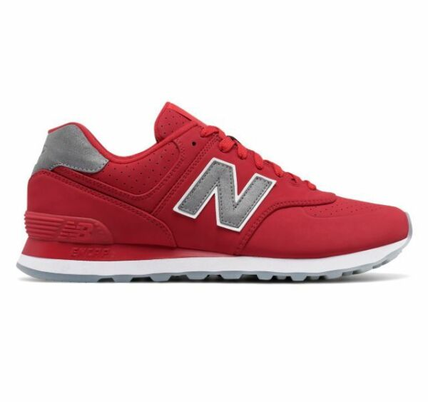 New! Mens New Balance 574 Synthetic Classic Sneakers Shoes - Limited sizes - Red