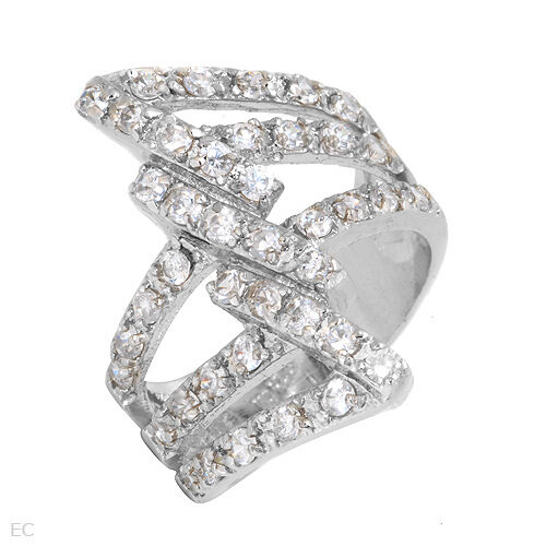Dazzling New Ring W5.10ctw CZ in 925 Sterling silver size 10