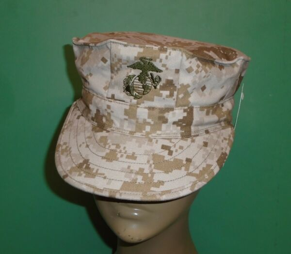US Military Issue Marine Corps USMC 8 Point Desert Marpat Camo Cover Hat Cap S $13.99