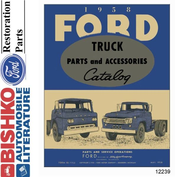 1958 Ford Truck Parts Numbers Book List CD Interchange Images