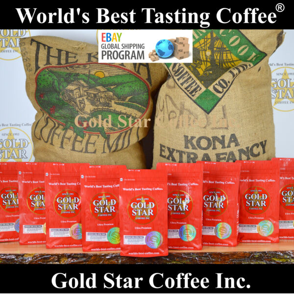 World's Best Coffee - 10 lb Hawaiian Kona - 100% Pure Hawaii roasted Fresh