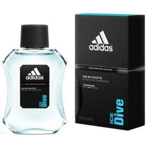 Adidas ICE DIVE Cologne for Men 3.4 oz edt 3.3 Spray New in BOX