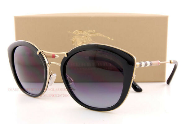 Brand New Burberry Sunglasses BE 4251Q 3001 8G Black Gradient Gray For Women $161.49