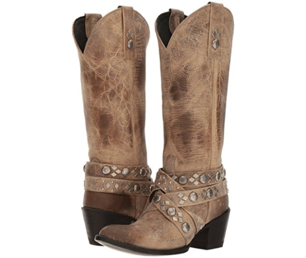 New in Box Womens Yippee Kay Yay Old Gringo Caryl Studded Strappy Tan Boots 8.5