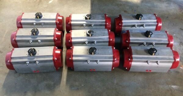 Lot of (9)UsedTested Allied Series C Pneumatic Actuator C-SR140-10-VR -5F~180F
