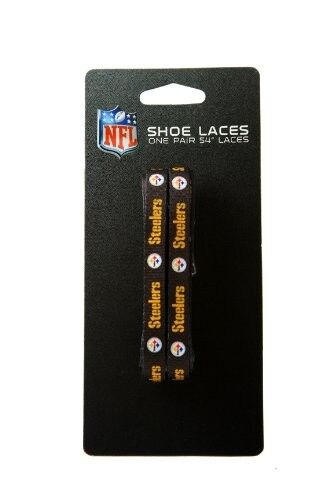 Pittsburgh Steelers NFL Black 54-Inch LaceUps Shoe Laces