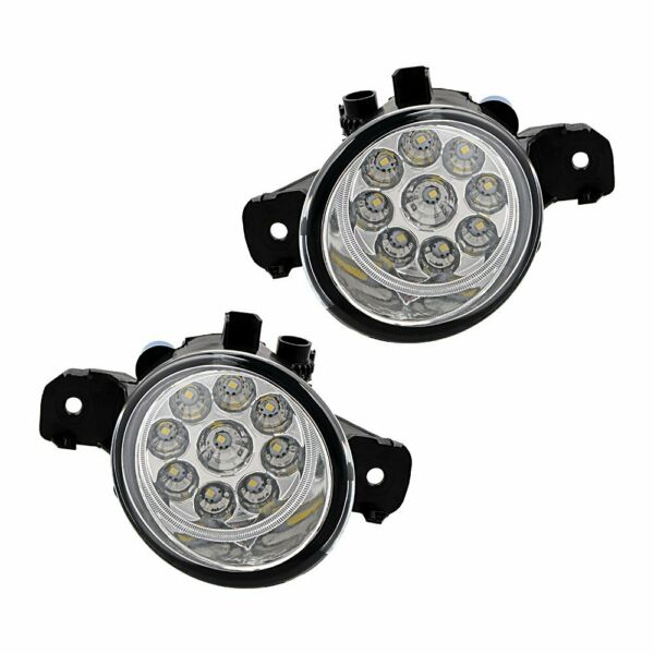 1 Pair 4 inch 9-LED Fog Lights for Nissan Altima Maxima Pathfinder Rogue Sentra