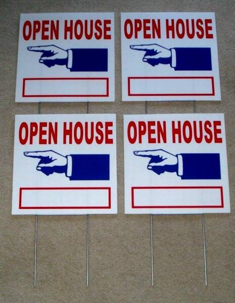 (4) OPEN HOUSE  DIRECTIONAL SIGNS 12