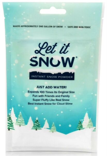 Let it Snow Instant Snow Powder for Slime and Holiday Decorations! *Cloud Slime*