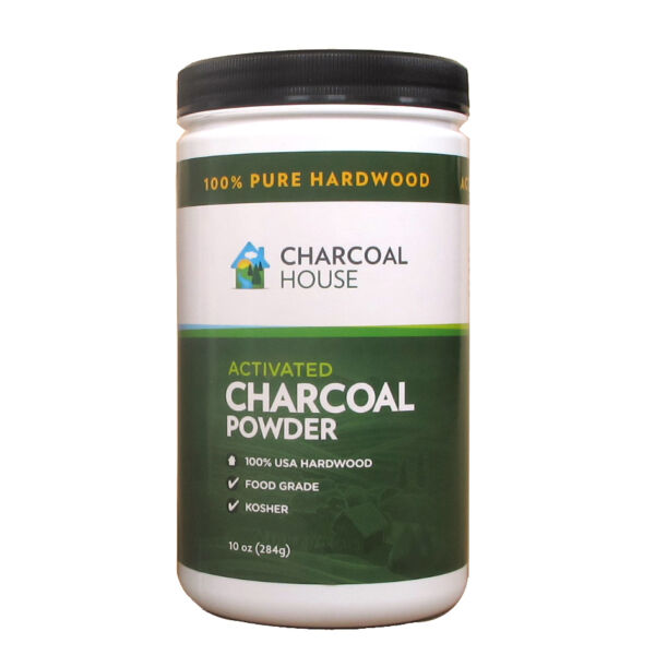 10oz Hardwood Activated Charcoal Powder high surface Food Grade Varying Uses