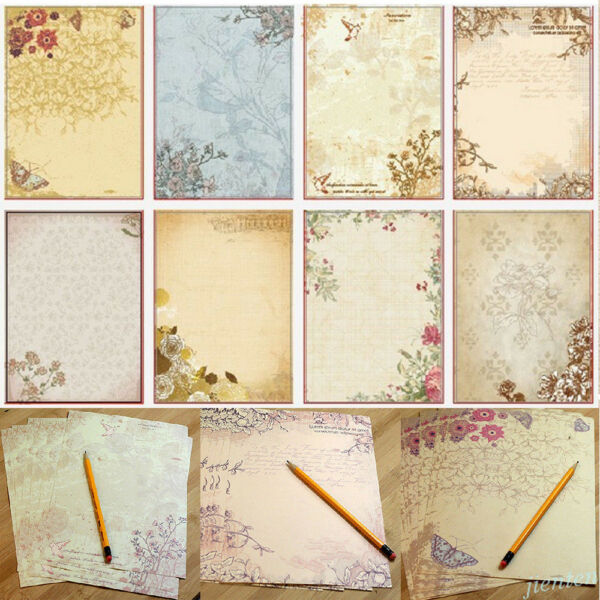 Rose Flower Writing Letter Paper Stationary Vintage Student Classic Stationery C $5.18