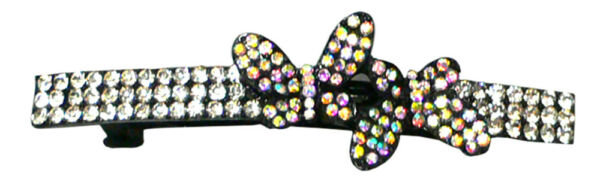 Bella Crystal Butterfly Barrette Hairclip Med Large Hair Slide Med Thick HairFA3
