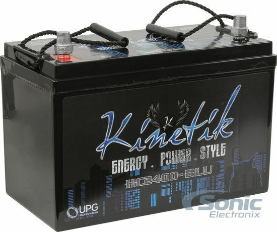 Kinetik HC2400-BLU 2400 Watt Car Battery Power Cell Audio System 12 Volt HC2400
