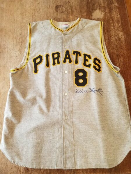 Willie Stargell Pittsburgh Pirates Autographed Jersey Vest HOF COA 1971 DECEASED