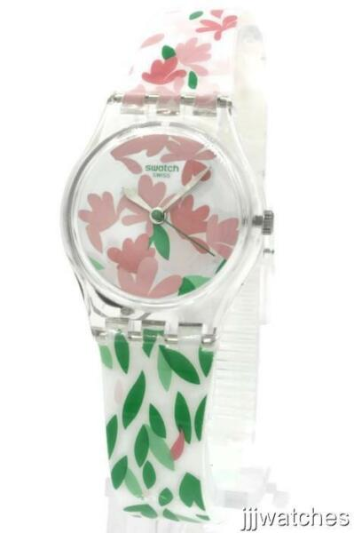 New Swatch Originals JACKARANDA Floral Print Silicone Women Watch 25mm LK355