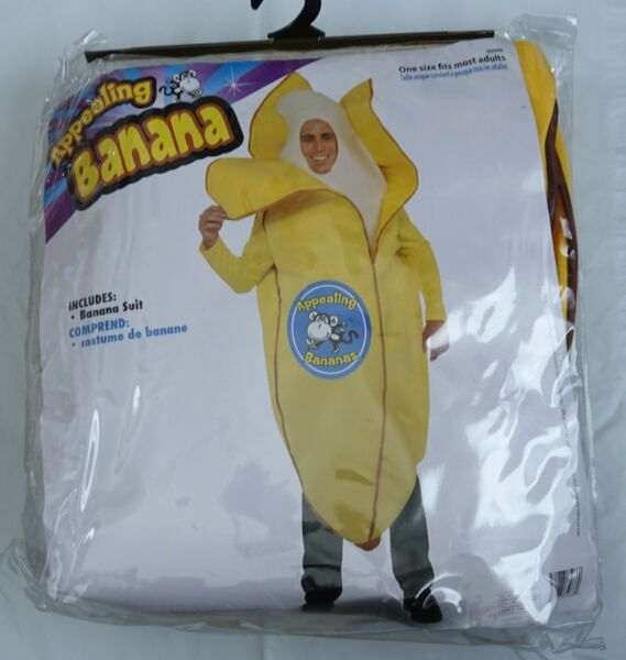 Forum Novelties ADULT Appealing Banana Mascot yellow Costume suit OS #65966