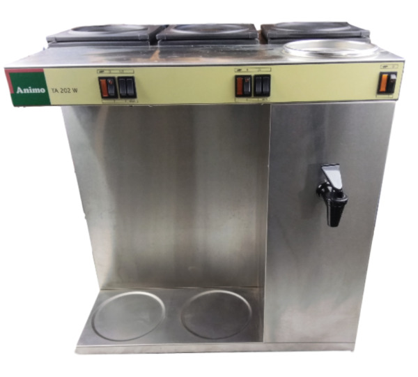 Animo TA 202 W Stainless Steel Coffee And Tea Machine Bulk Brewers 110V  50-60Hz