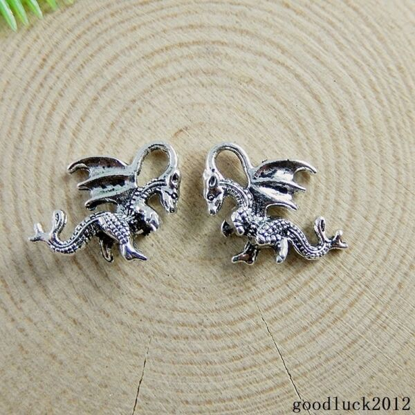 51150 Vintage Silver Alloy Mini Small Dragon Baby Charms Pendants Crafts 80X $4.74