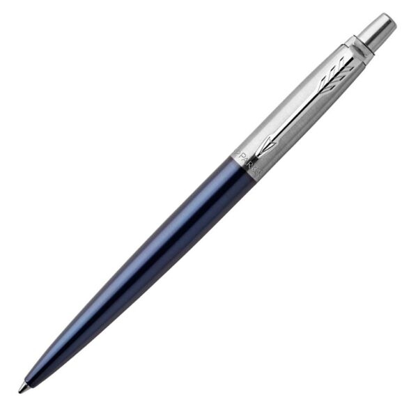 Parker Jotter Ballpoint Pen Royal Blue amp; Chrome Brand New Style