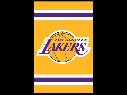 LOS ANGELES LAKERS Official NBA Basketball Dynamic Applique Premium WALL BANNER