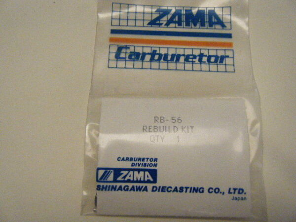 NEW ZAMA MINOR RE-BUILD KIT   PART NUMBER RB-56