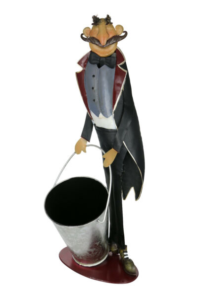 Wine Bodies Happy Waiter Large Pail Kitchen Display Stand Black