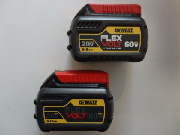 (2) DEWALT DCB606-2 20V 60V FLEXVOLT Li-Ion 6.0 AH Battery packs x 2 New DCB606