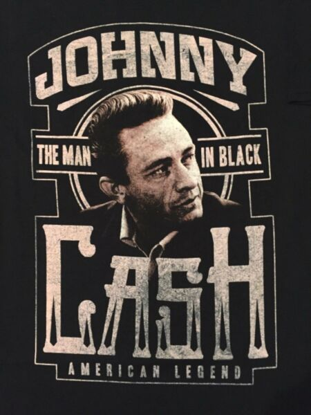 JOHNNY CASH TOUR album COUNTRY music THE MAN IN Black VINTAGE Retro MENS T-Shirt