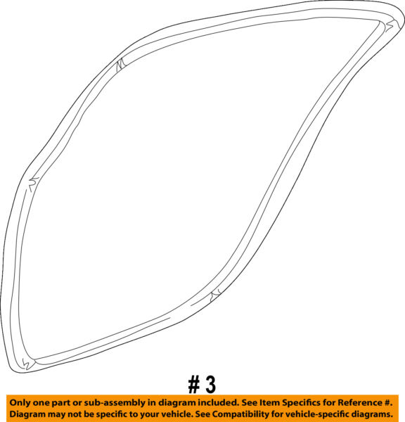 CHRYSLER OEM Rear Door-Weatherstrip Seal on Body Left WR33TL2AB