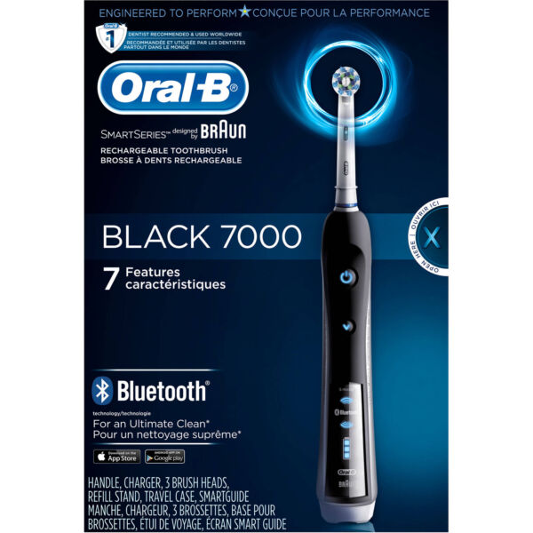 Oral-B Pro 7000 SmartSeries Black Electric Toothbrush Powered by Braun