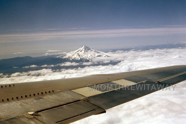 1962 COLOR SLIDE 732 OR Oregon View of Mt. Hood from  Airplane