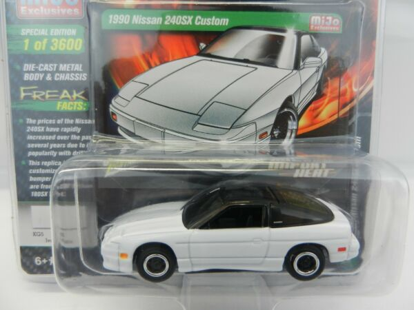 2018 Johnny Lightning *MIJO#x27;S IMPORT HEAT* White 1990 Nissan 240SX Custom *NIP* $7.99