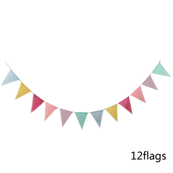 1 String Burlap Banner Bunting Flag Garland 4 Meters Wedding Hanging Decoration