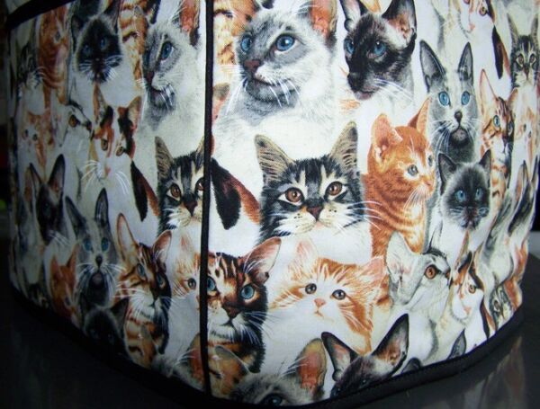 Cat Breeds Quilted Fabric 2 Slice or 4 Slice Toaster Cover NEW