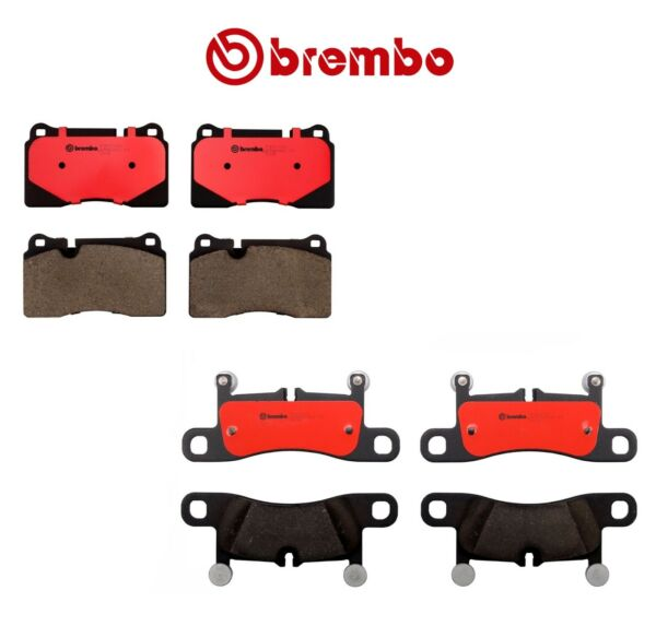 For Volkswagen Touareg 2011-2015 Front and Rear Ceramic Brake Pads Kit Brembo