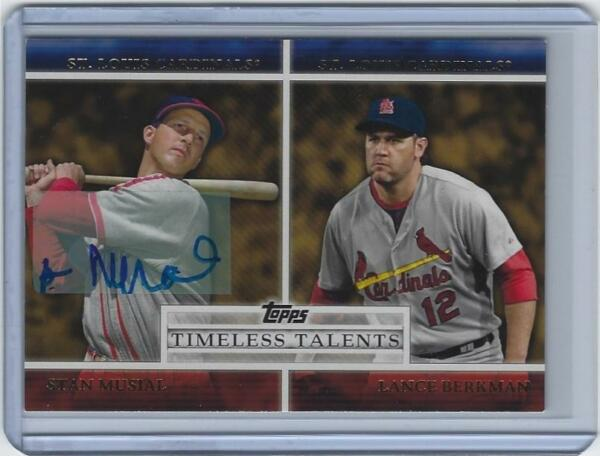 Stan Musial signed 2012 Topps