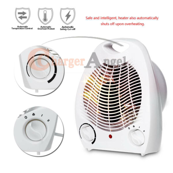 Portable Electric Space Heater 1500W 3 Settings Fan Forced Adjustable Thermostat