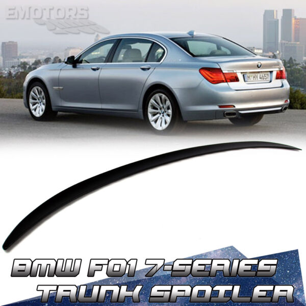 Unpainted 750i BMW 7-Series F01 F02 4DR M3 Type Trunk Spoiler