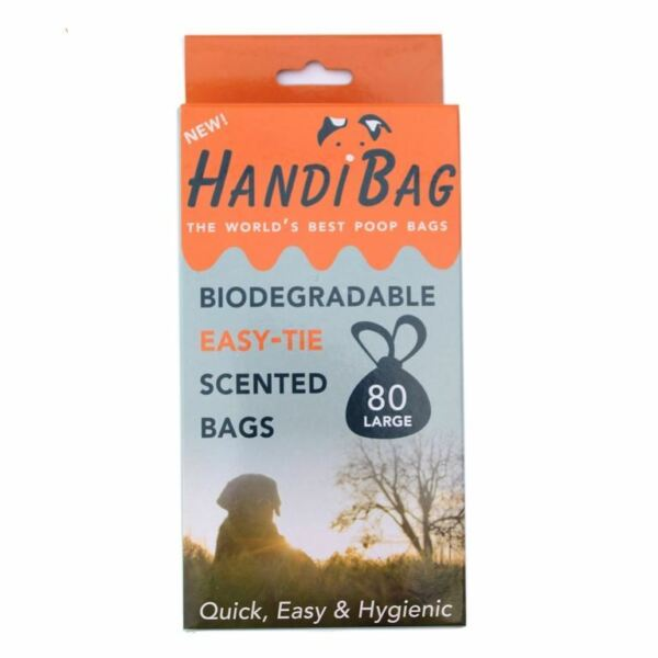 Handibags 80 Large Biodegradable and Scented Poop Bags by Handiscoop GBP 5.99