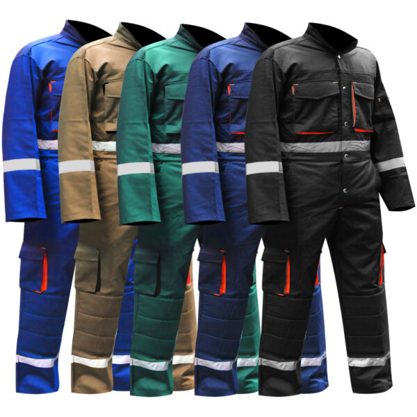 Mens Overalls Boiler Suit Coveralls Work Wear Mechanics Working Protective Suit GBP 20.99