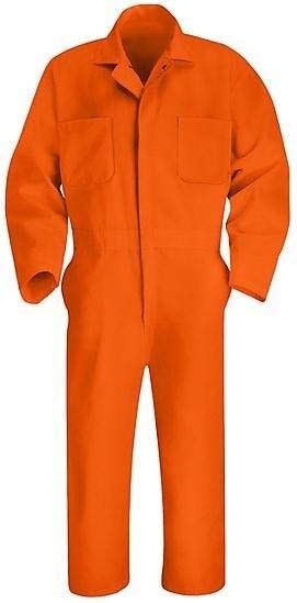 New ORANGE COVERALLS Red Kap All Size CT10 CC14 OR uniform mechanic Coverall 2nd