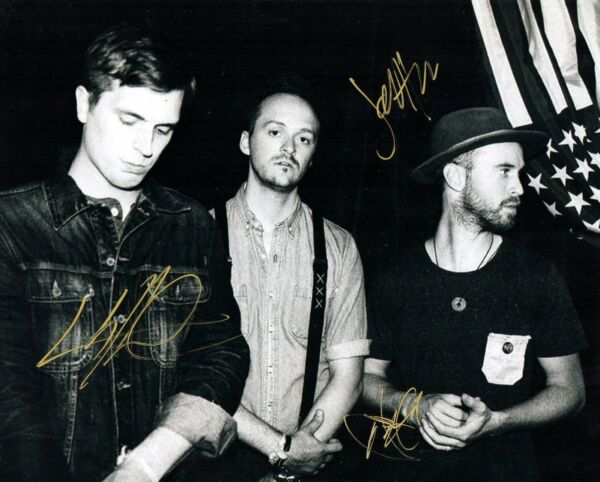 Paper Route band REAL hand SIGNED 8x10 photo w COA JT Daly +2  #1
