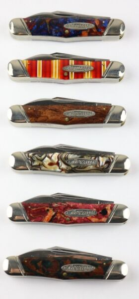 GROUP OF 6 CASE CLASSIC SWELL CENTER MOOSE ZIPPERS - NEVER PRODUCED - RARE