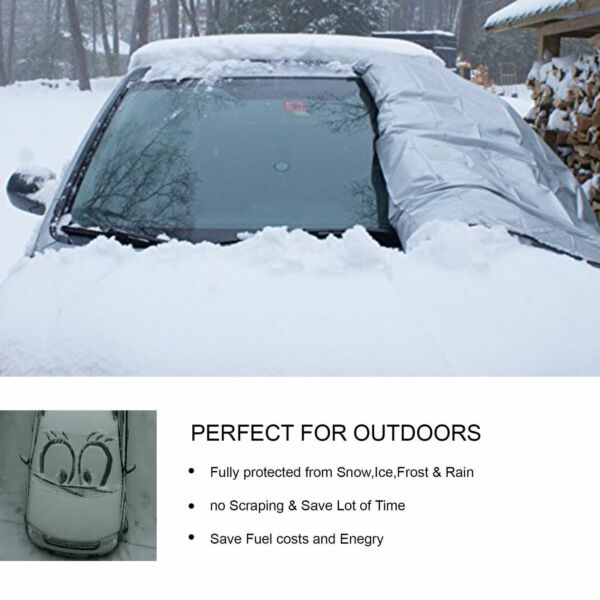 Windshield Cover Snow and Ice for Car Frost Guard Winter Protector Magnetic Auto $6.77